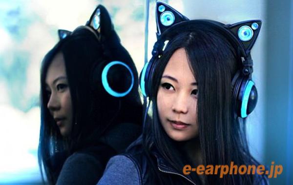 ブログ用 光るネコ耳ヘッドホン