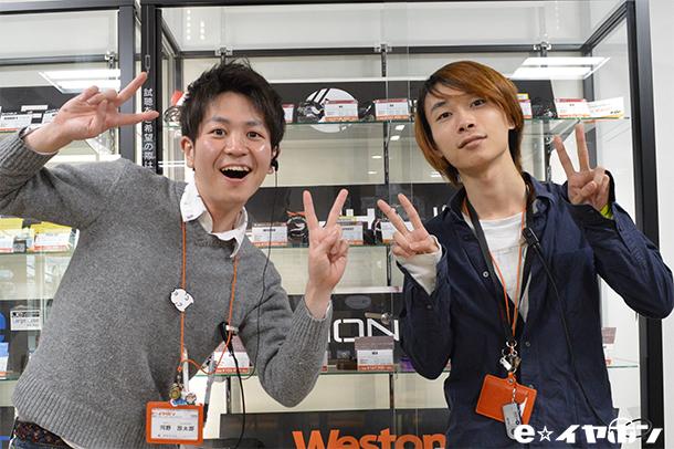 キラキラスマイルかわちゃん(写真左) クールなナイスガイぐっさん(写真右)