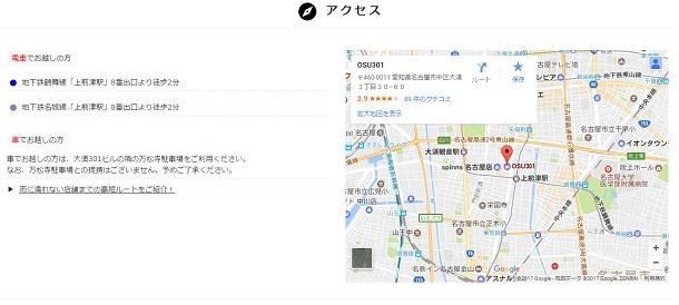 大須店アクセス