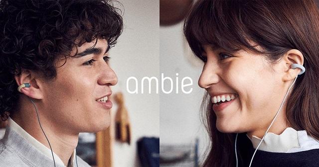 周囲の音を遮らないイヤホン、ambie(アンビー)