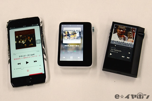 ACTIVO CT10とiPhone、AK70MKIIの外観比較