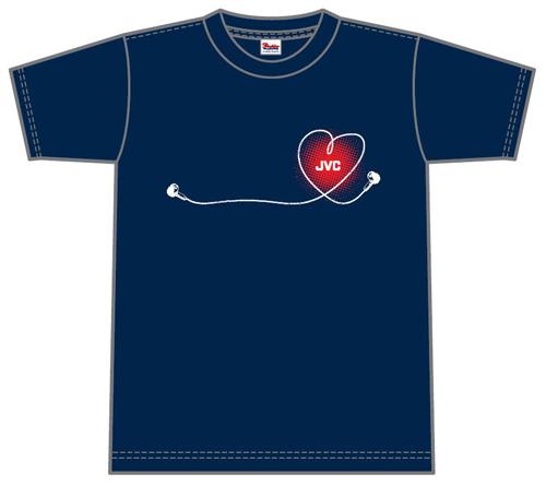 非売品のJVCオリジナルTシャツ。