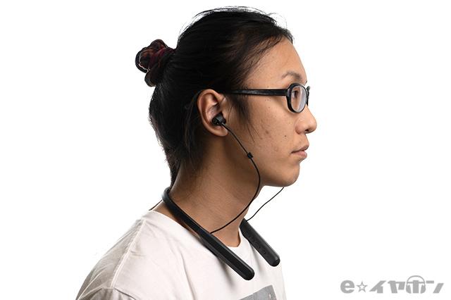 audio-technica ATH-ANC400BT 装着イメージ